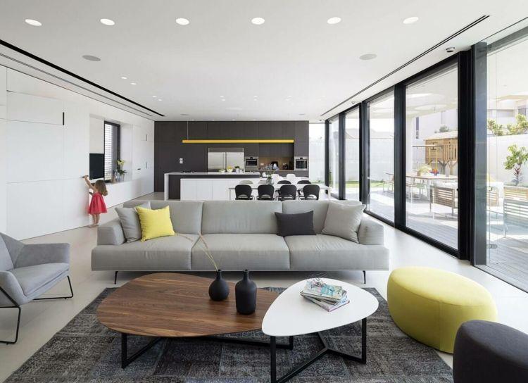 Möbel in Grau, kombiniert mit Weiß, Schwarz und Gelb | Landidyll ...
