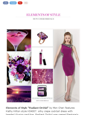 Radiant Orchid Wedding Inspirations