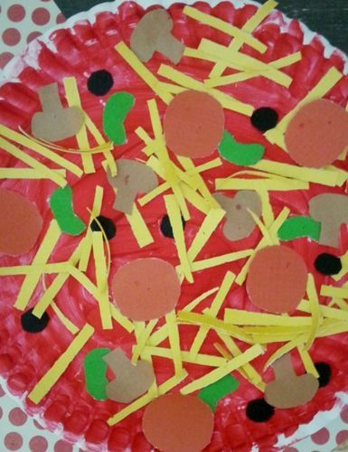Preschool A paper plate pizza craft that\u0027s almost (almost!) good enough to & Preschool: A paper plate pizza craft that\u0027s almost (almost!) good ...