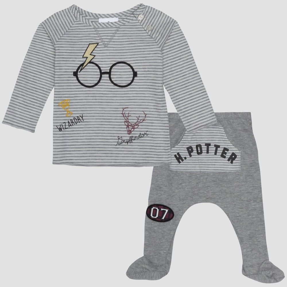 Baby Boys Harry Potter 2pc Long Sleeve T Shirt And Footed Joggers With Kangaroo Pocket Set Harry Potter Baby Baby Boy T Shirt