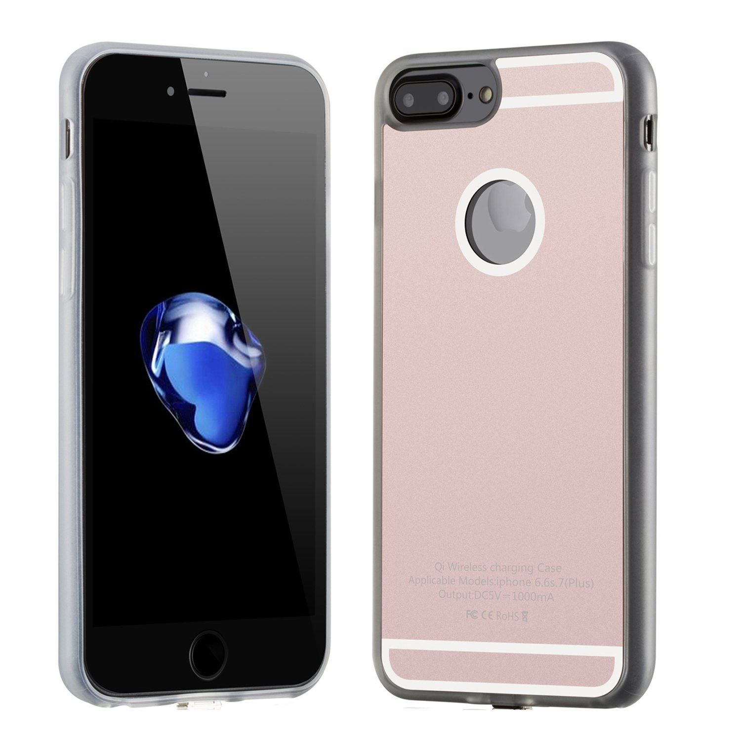 Apple iPhone 7 Cover with integrated Qi Wireless Protective Case