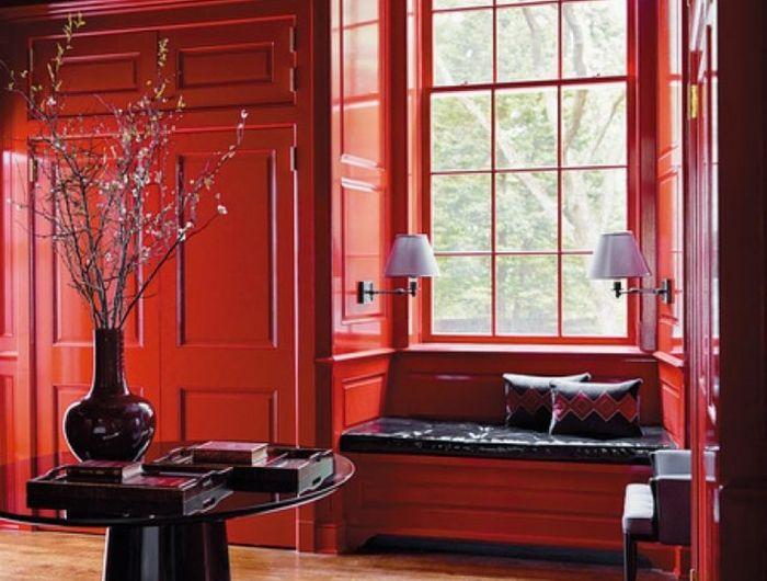 Aménager la maison dans la gamme de la couleur carmin! Dan