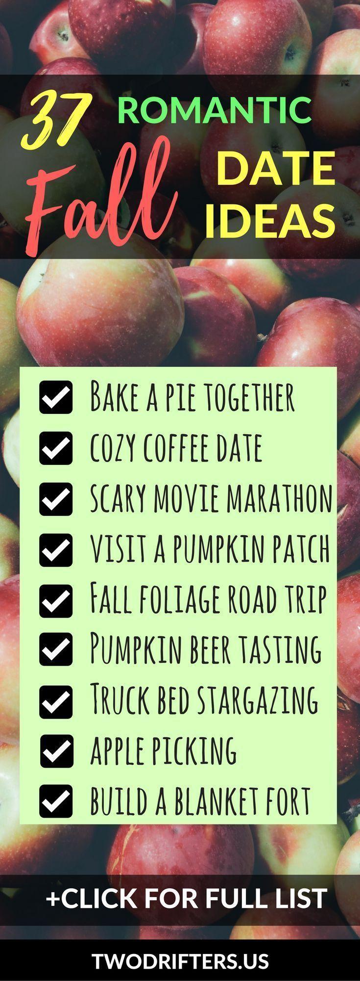 50 Romantic & Adventurous Date Ideas for Fall (2019) #fallbucketlist