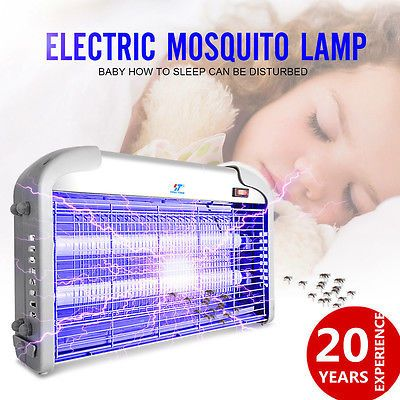 110V 20W Indoor Electric UV Mosquitos Fly Killer Bug Zapper Pest Light Catcher