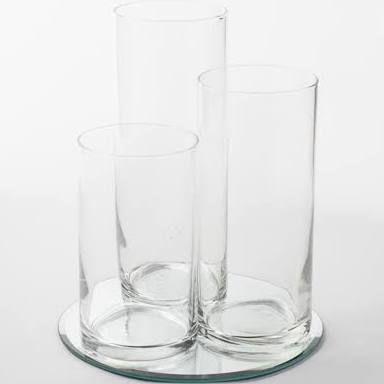 Eastland Round Mirror And Cylinder Vase Centerpiece Set Of 36