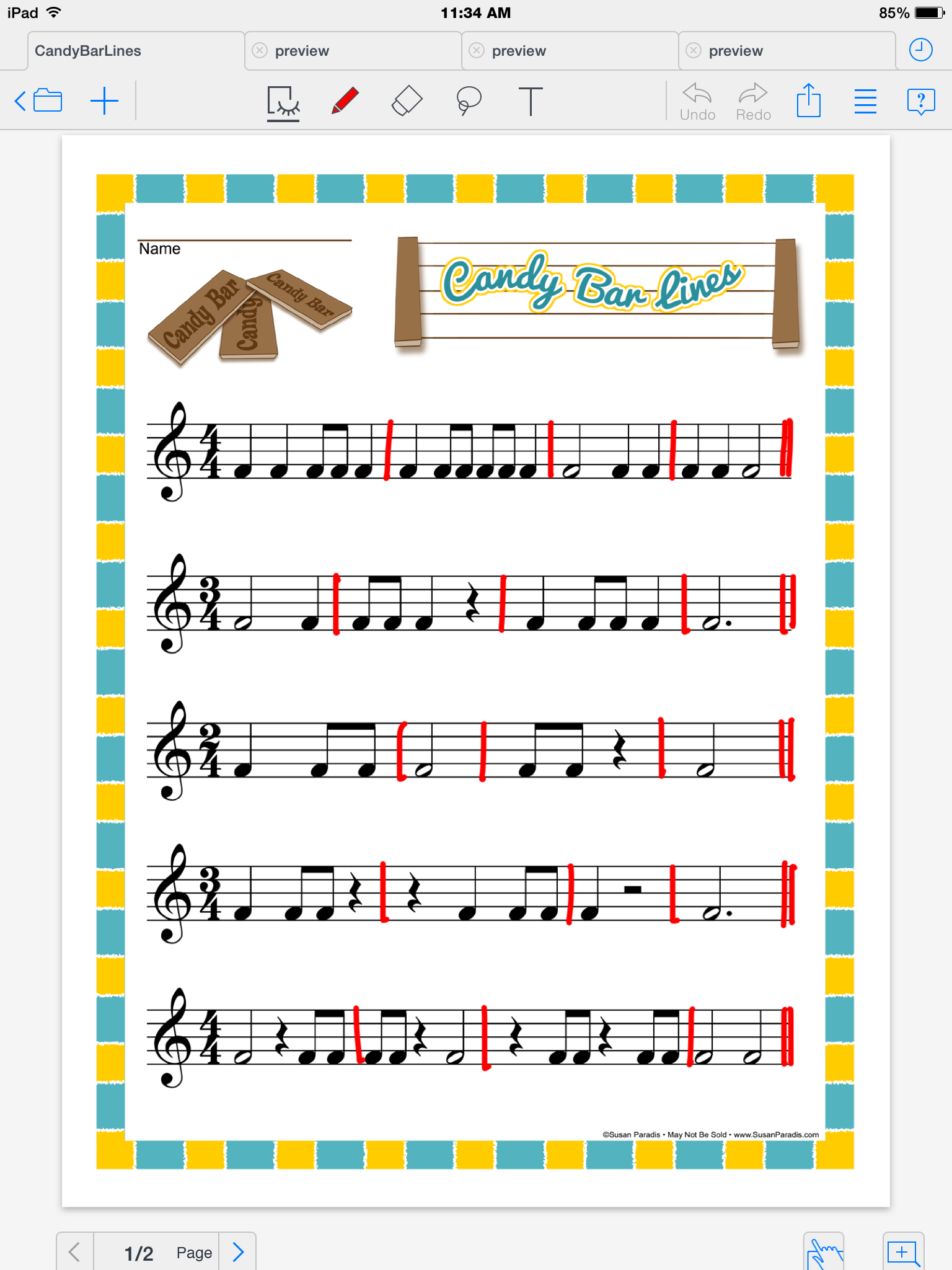 Candy Bar Lines Music Pinterest Worksheets Students And Learning