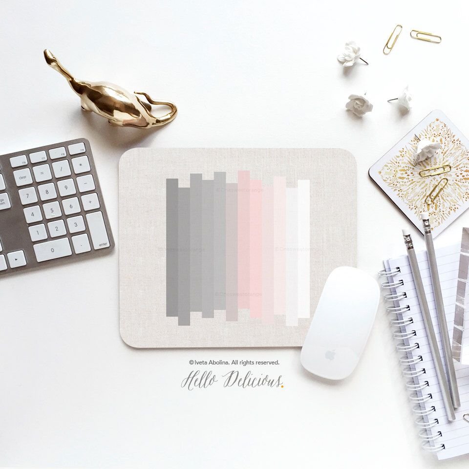 Mouse Pad Silver Lining Mouse Pad Geometric Mouse Pad Office Mouse Pad Personalized Mouse Pad Desk Accessories Mouse Pad Round Mouse Pad 20 Deco