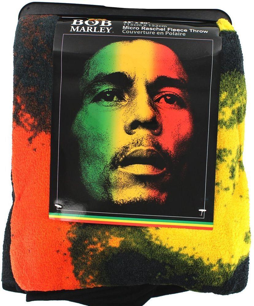 Collectable Blankets Bob Marley Rasta Fleece Throw Blanket 45x60