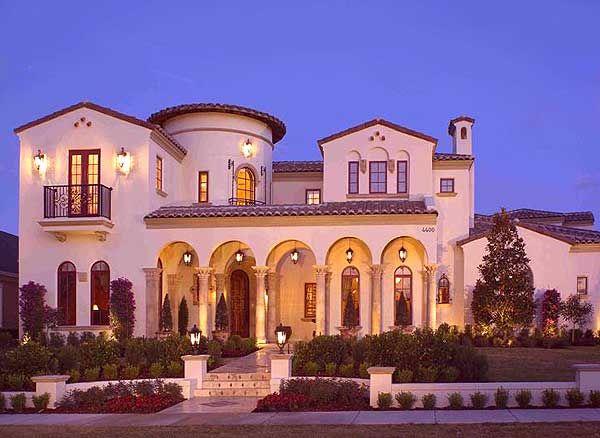Plan 82005ka Spanish Villa With Studio Spanish Villas Spanish House Dream House Plans