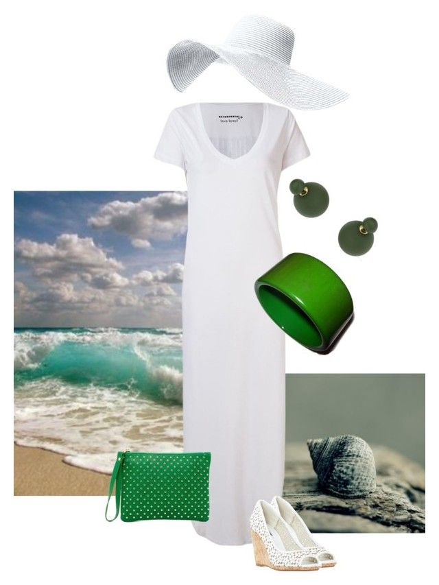 """Beachy green"" by maria-kuroshchepova ❤ liked on Polyvore featuring interior, interiors, interior design, home, home decor, interior decorating, Skinbiquini, Topshop, Shiraleah and Dune"