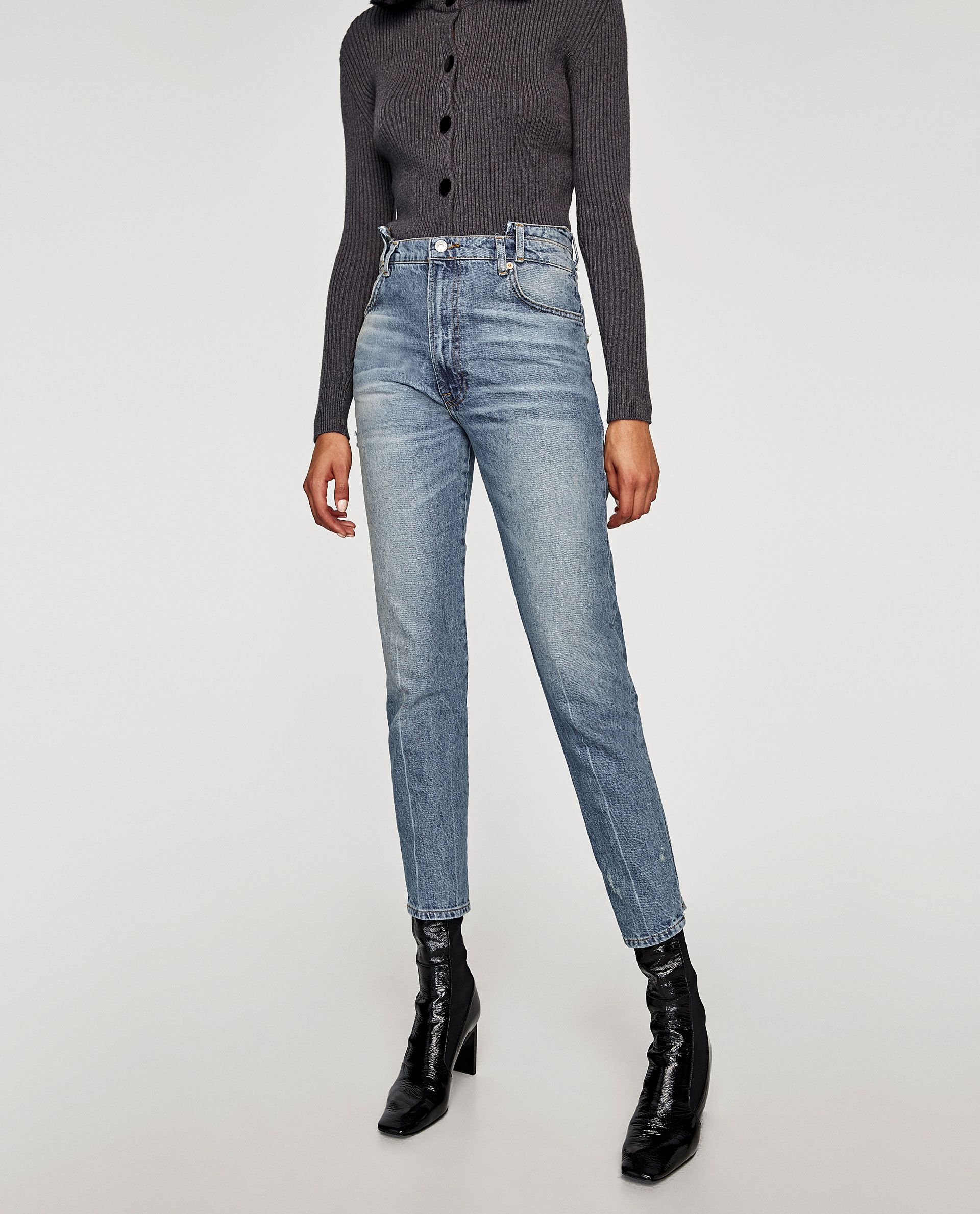 8f39669e Image 2 of THE RECONSTRUCTED VINTAGE HIGH WAIST JEANS from Zara ...