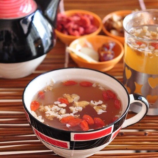The Foun'TEA of Youth. Dates, Ginger, Goji Berries and Walnuts - Delicious Too!