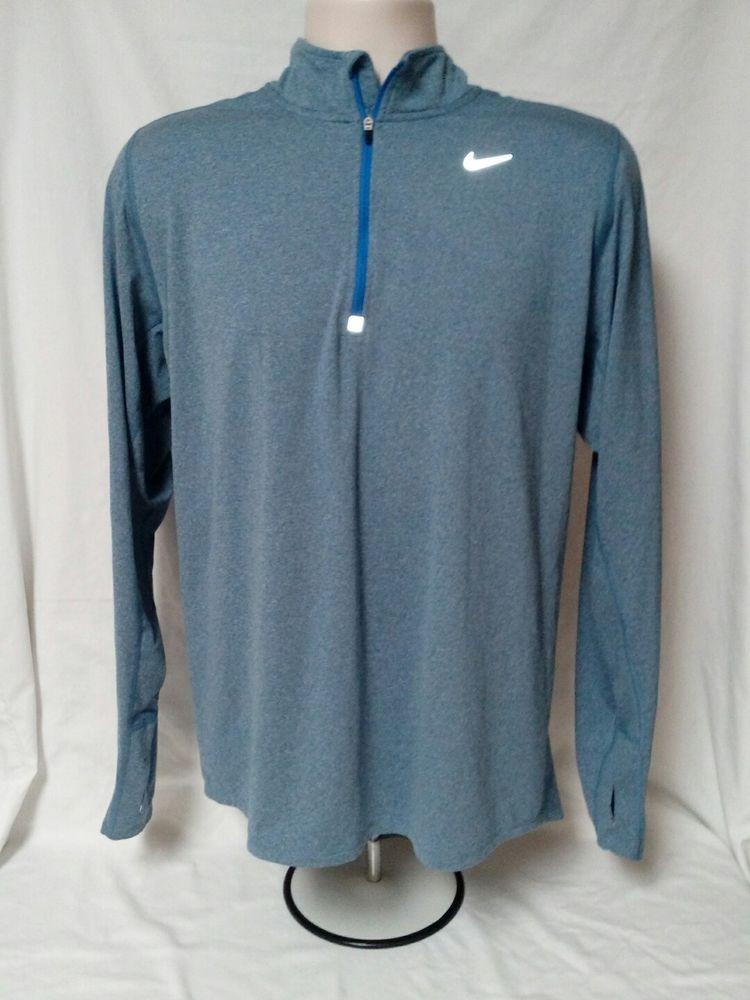 28cbc8d1894f1e Nike DriFIT Stay Warm Element Half-Zip Men s Running Shirt- L - NWOT ...