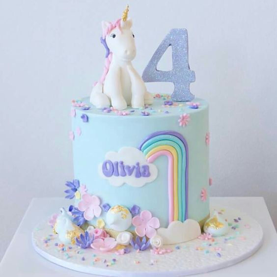 Adorable unicorn kids birthday cake Childrens Parties