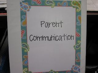 Parent Communication Binder:  From the S is for Second Grade Blog