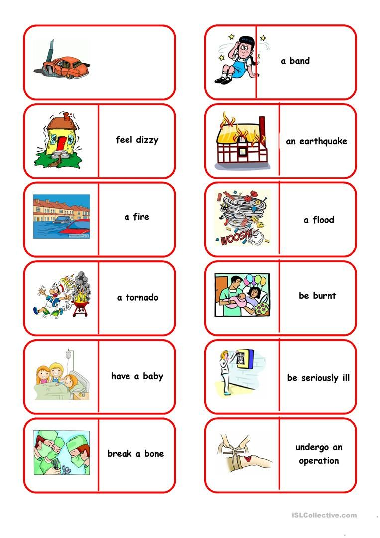 Emergency Situations Dominoes English Esl Worksheets For Distance Learning And Phys Worksheets For Kids Comprehension Lesson Plans Kids Worksheets Printables