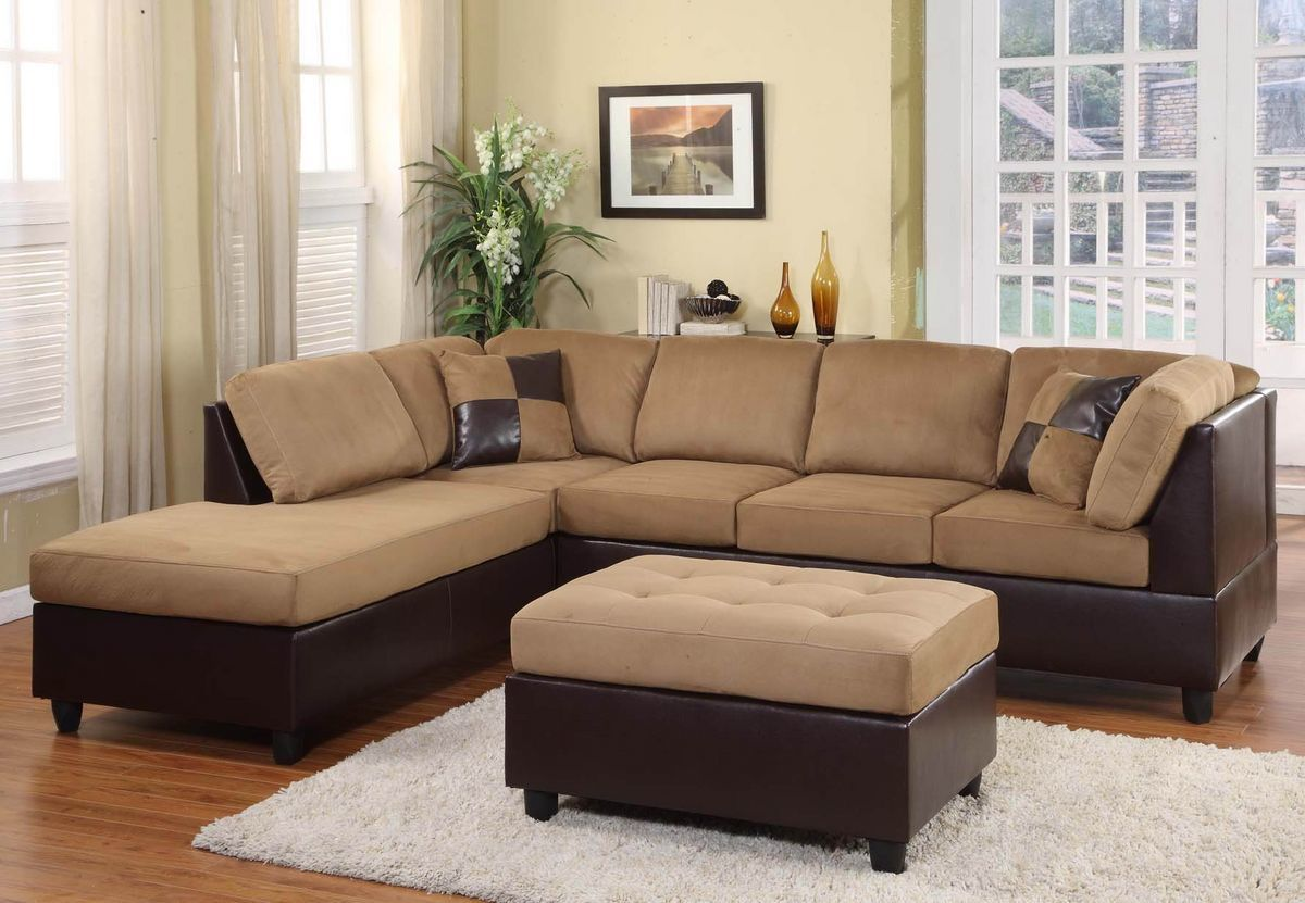 Homelegance Comfort Living Brown Rhino Reversible Sectional Sofa Set