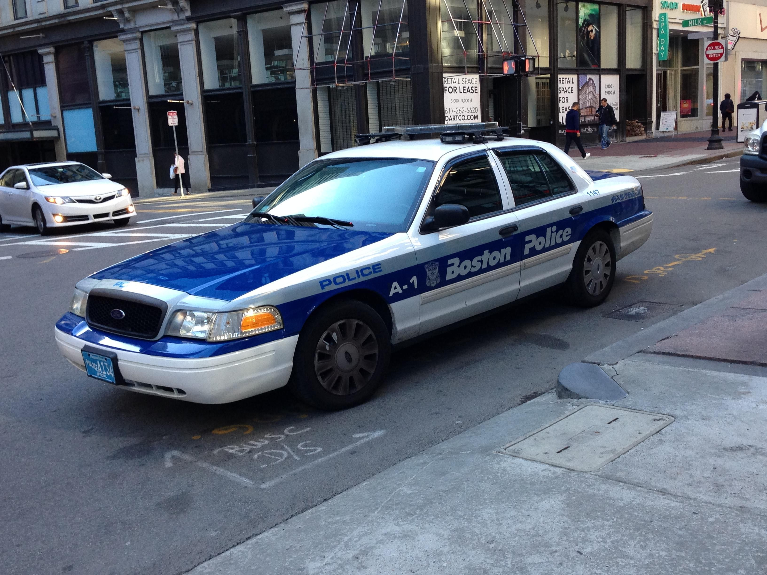 Boston police department ford crown victoria