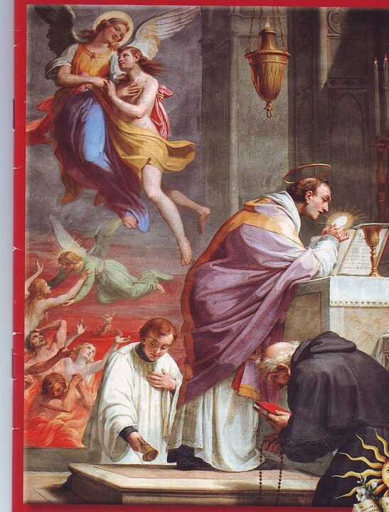Mass and the souls in purgatory!
