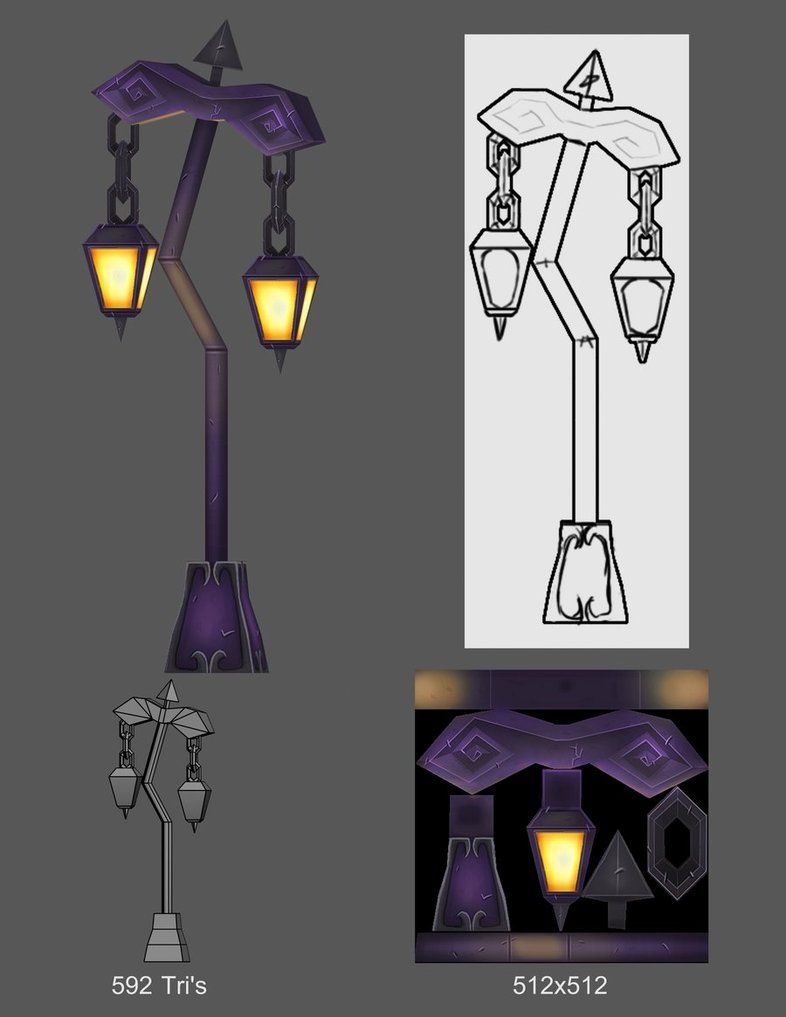 Undead Lamp Post By S0id3 On Deviantart Lamp Post Environment Concept Art Props Concept
