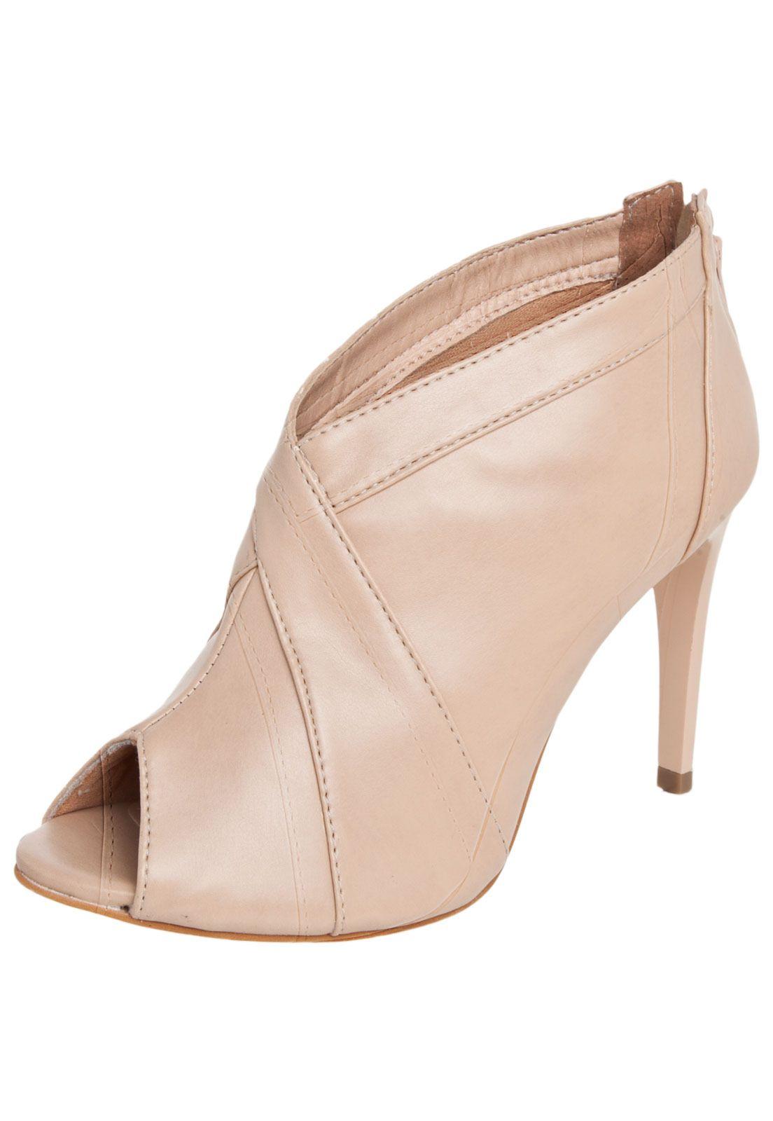 34b462640 Ankle Boot DAFITI SHOES Nude - Compre Agora   Dafiti Brasil   Bolsas ...