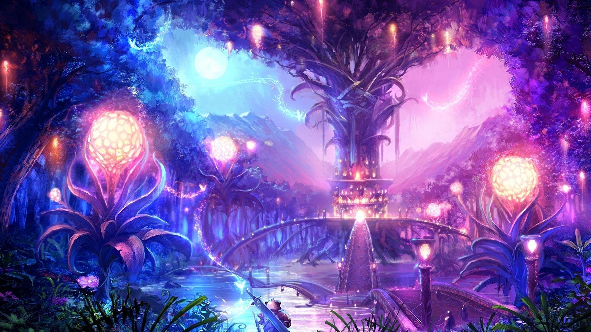 Anime Fantasy Landscape Wallpaper High Definition Pejzazhi Kartiny Pejzazha Oboi Iskusstvo