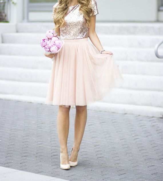 Bridal Separates Top, Sequin blouse, Rose gold sequin Blouse, Sequin ...