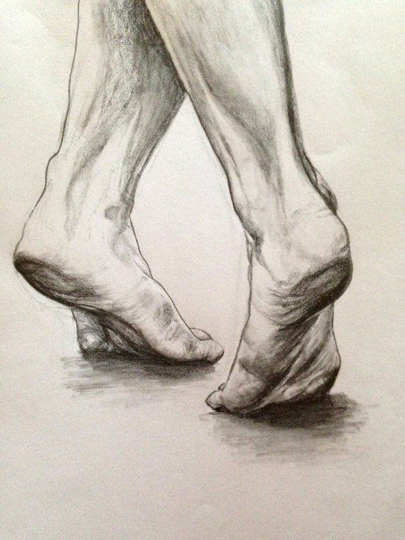 Dancing Feet drawing print, pencil sketch print, dancer artwork, minimalist art, dance art, dance lover's gift, figure art, feet study print