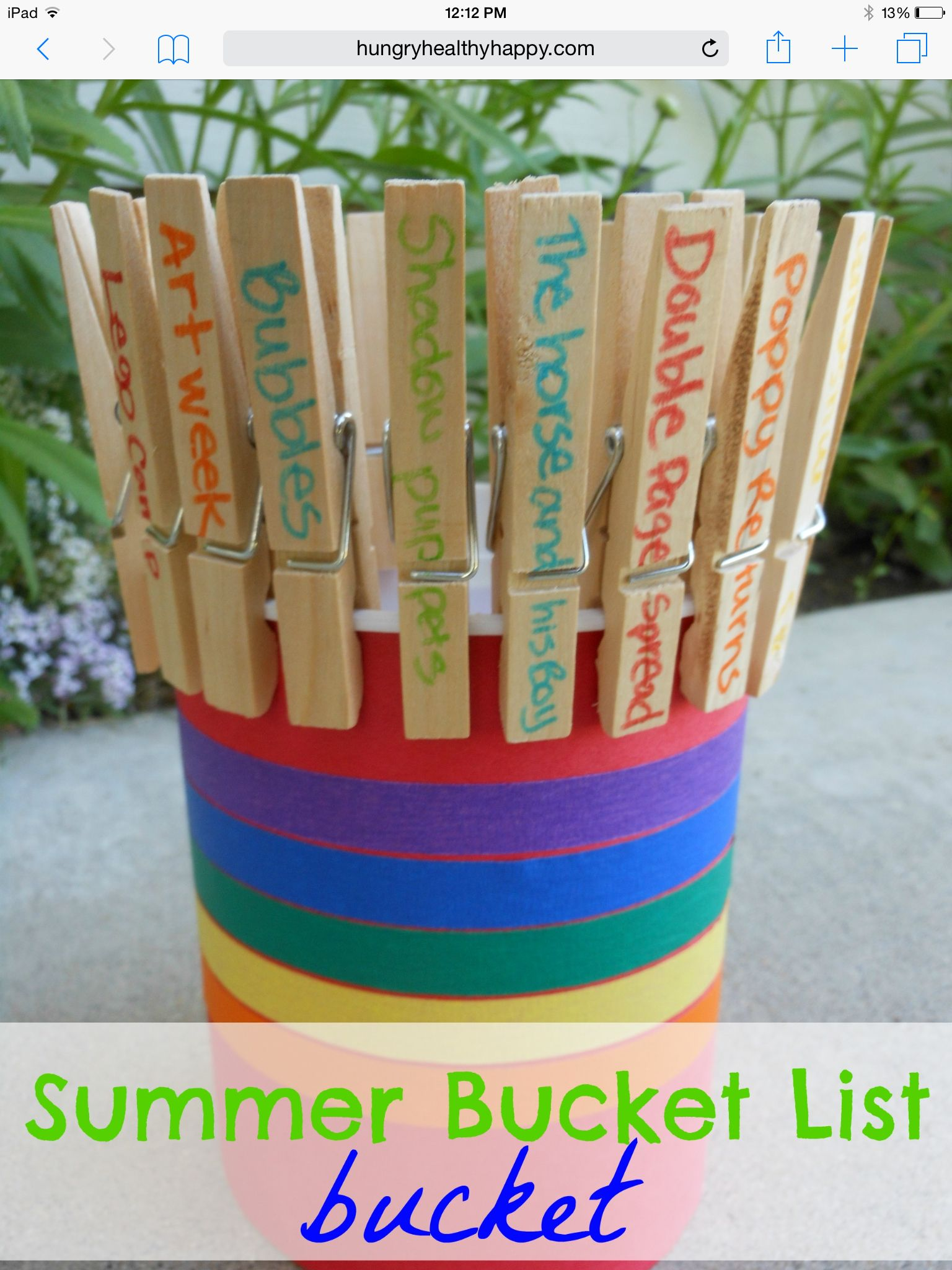 DIY Summer Bucket List Bucket!