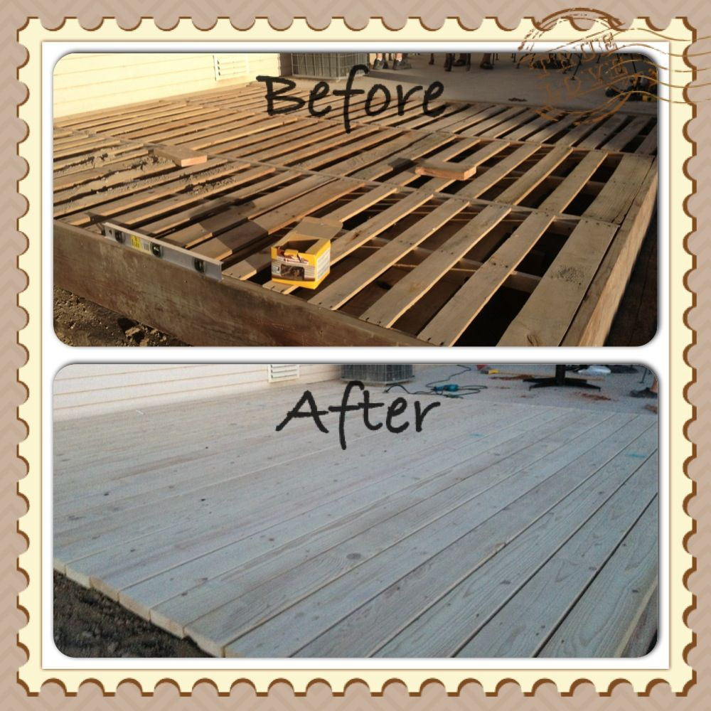 Decking Using Pallets Pallet Deck Easy Temporary Deck That Could Be Moved I Luv
