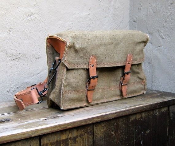 1950/'s French Leather Shoulder Bag