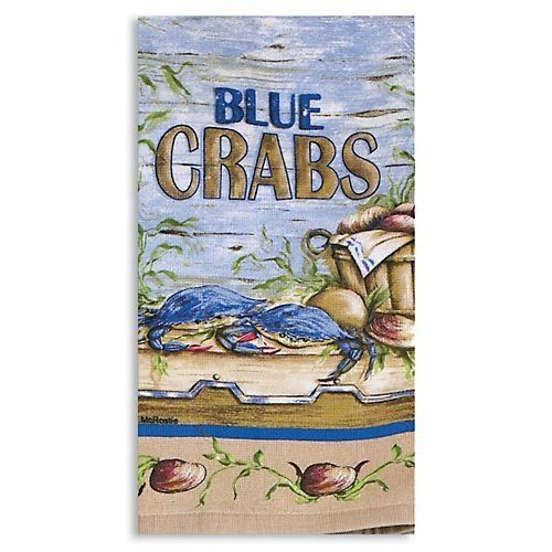 Kaydee Designs Blue Crab Terry Kitchen Towel By Kay Dee, Http://www