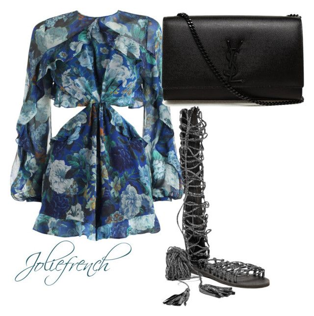 """""""Untitled #40"""" by marlene-helene on Polyvore featuring Jeffrey Campbell and Yves Saint Laurent"""