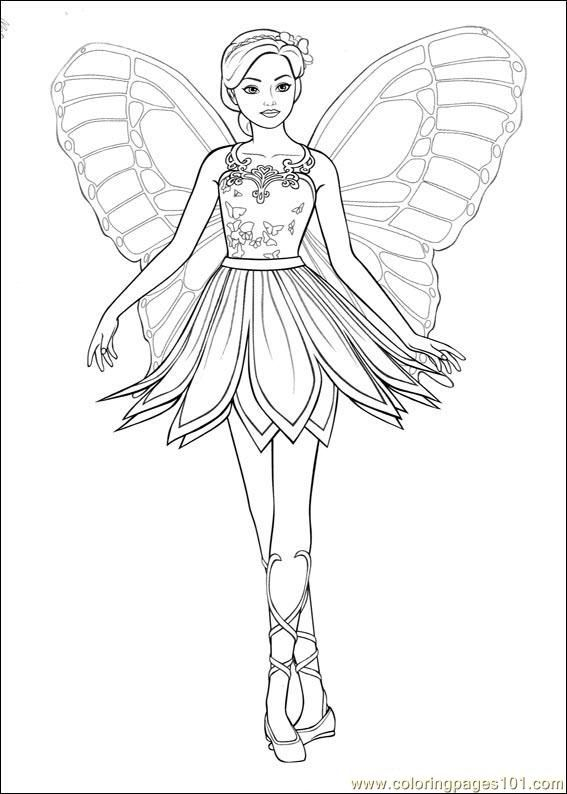 Barbie Ballerina Printable Coloring Pages #3 | iColor ...