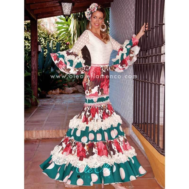 a08414bc345f Flamenco Sevillana Esmeralda Gown Dress in 2019   Flamenco ...