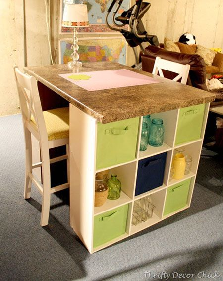 Craft Table: 5 Creative Ways To Make Your Own   All You Need Is A Couple Of  Hours To Put Together This Fun And Functional Craft Table.