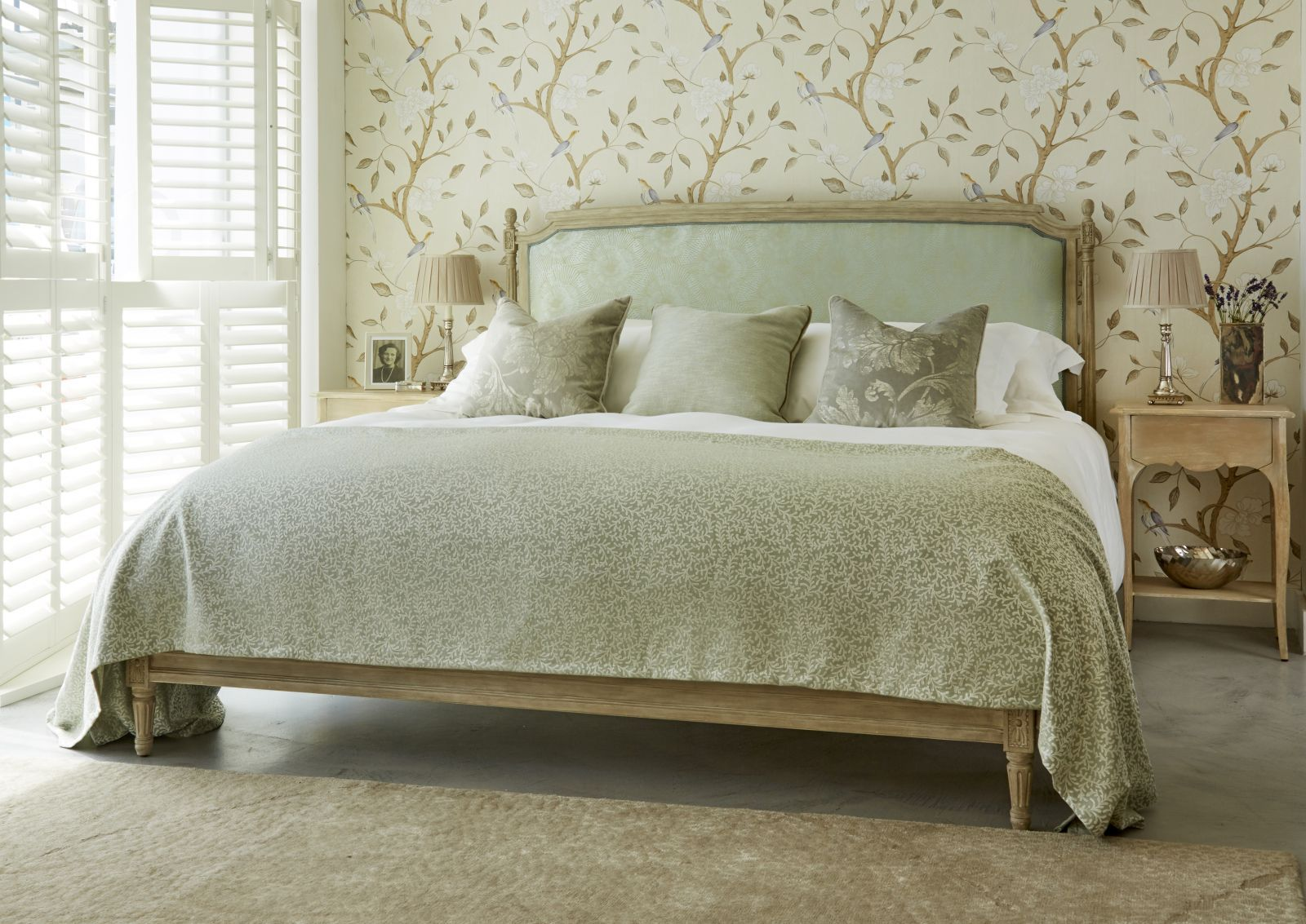 Famous for its romantic French beds, Simon Horn offers a
