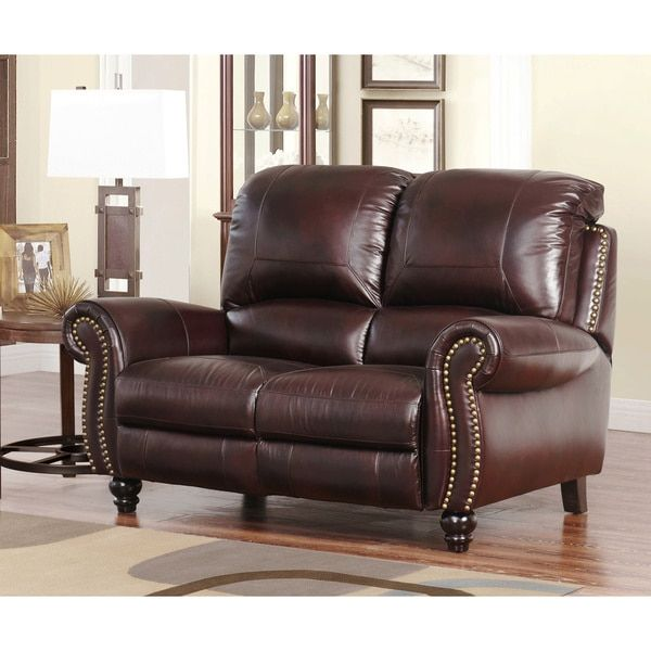 Phenomenal Abbyson Living Madison Top Grain Leather Pushback Unemploymentrelief Wooden Chair Designs For Living Room Unemploymentrelieforg