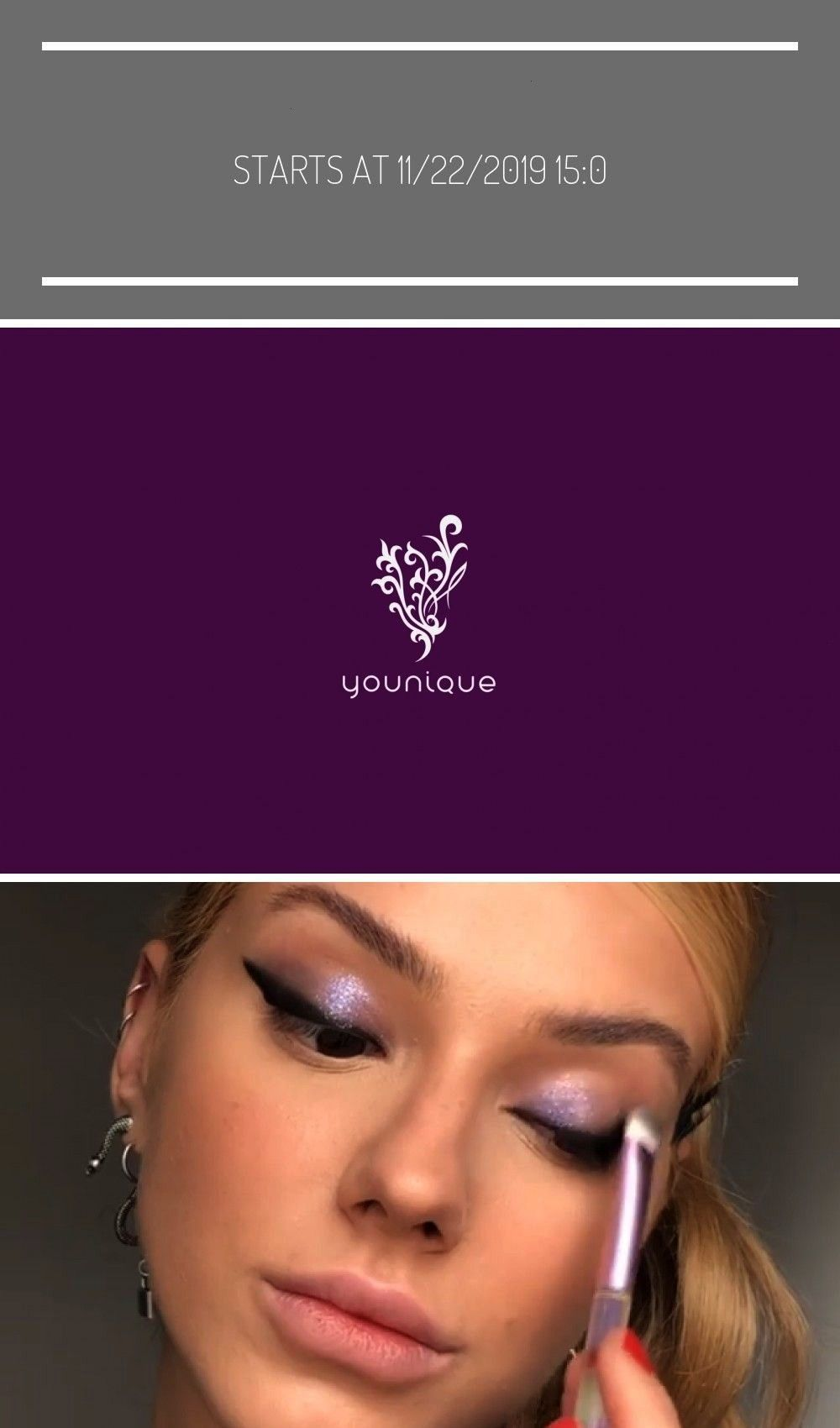 at 11/22/2019 15:00 MEZ makeup videos Crazy Purple Week Holiday PromotionStarts at 11/22/2019 15:00