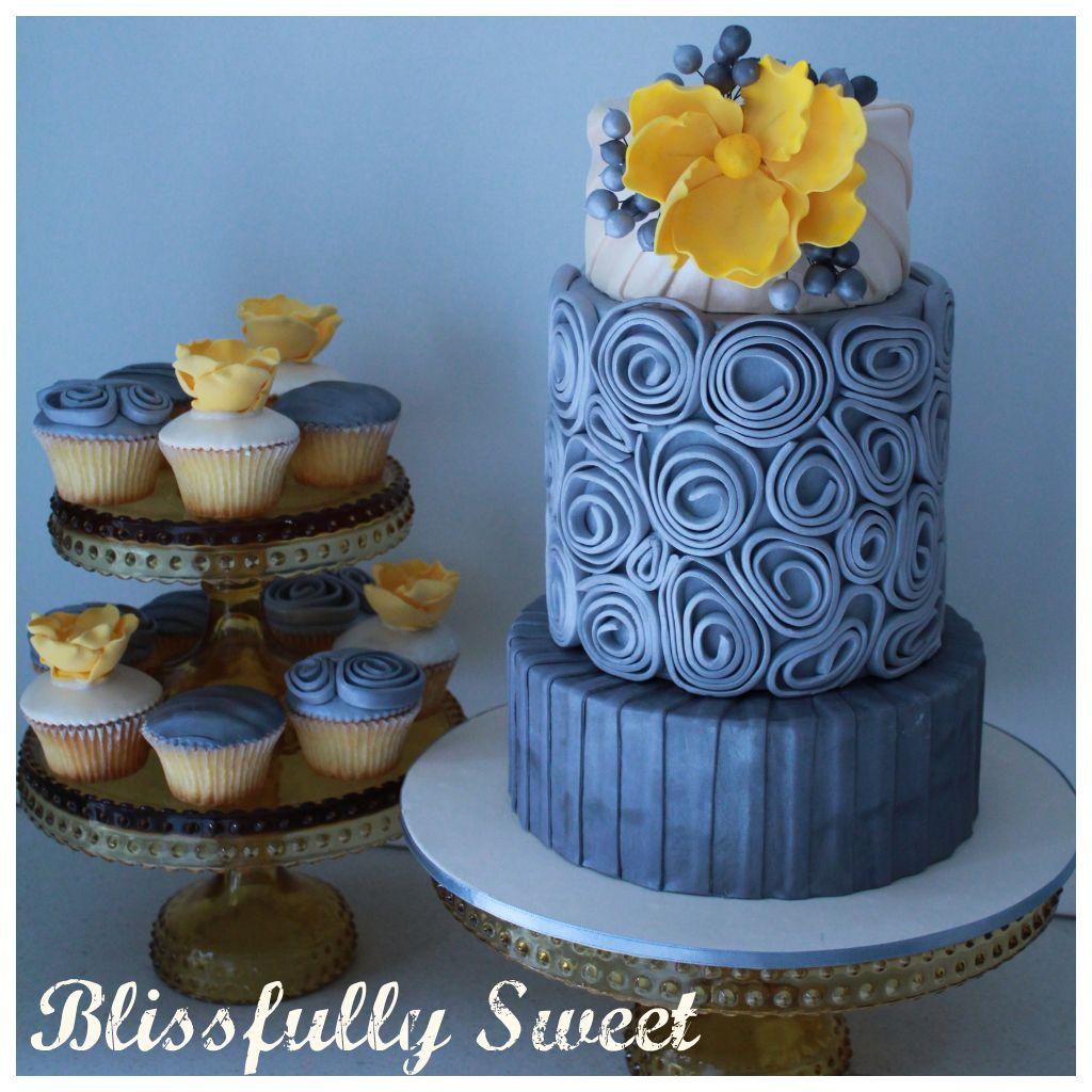 Blissfully sweet wedding cake designed for cosmopolitan bride