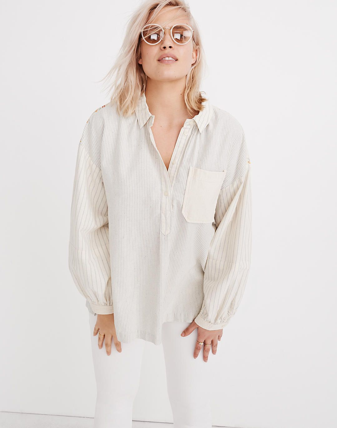 9f49cf581ccdae x The New Denim Project® Oversized Popover Shirt in 2019 | laurel ...