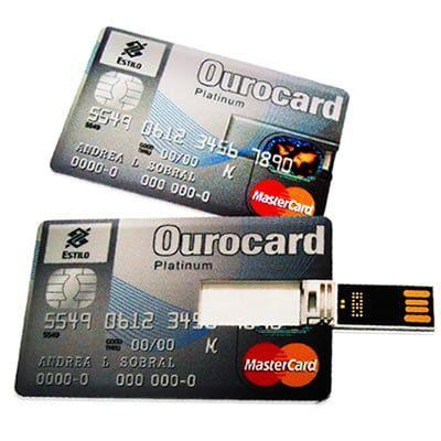 5dfe64ee8 pen card personalizado formato cartao Ourocard