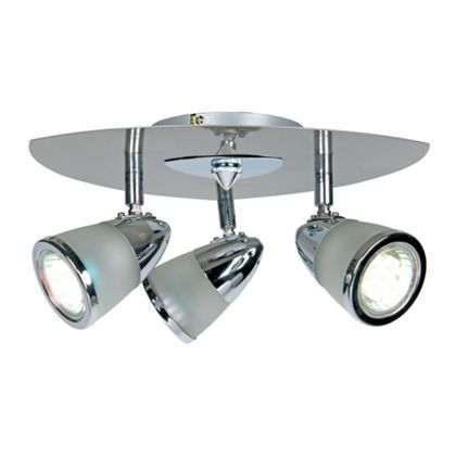Kitchen Lights Homebase Baya plate spotlight chrome 3 light at homebase be inspired baya plate spotlight chrome 3 light at homebase be inspired and make your house a home buy now workwithnaturefo