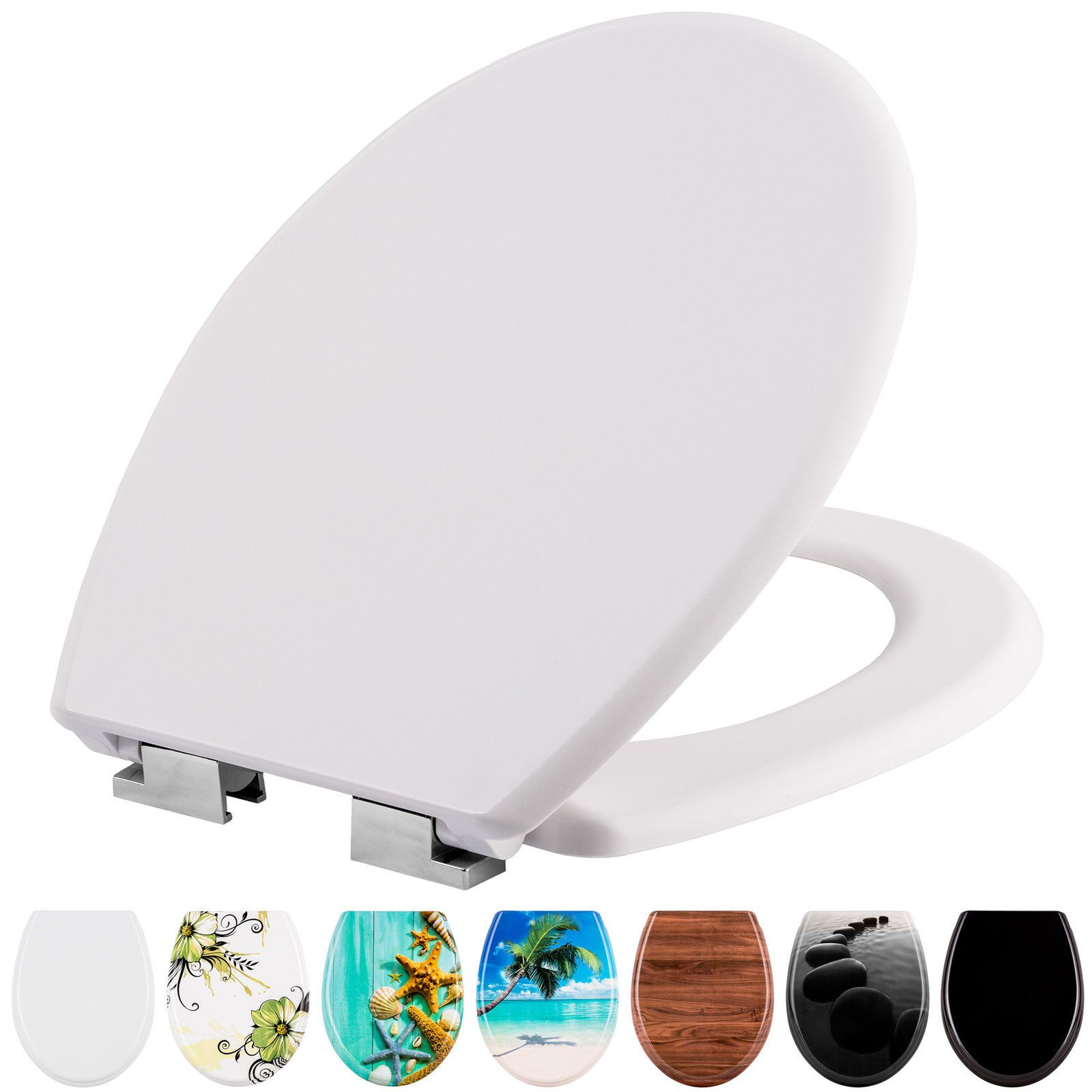 High Quality Printed Wc Toilet Seat Lid Stable Hinges Modern Soft Close In 2020 Toilet Seat Toilet Ebay