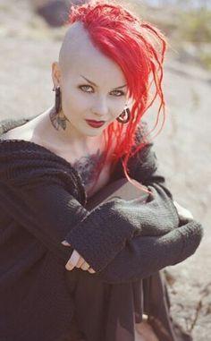 Girl Red Mohawk Roxie Ocho Character Inspiration