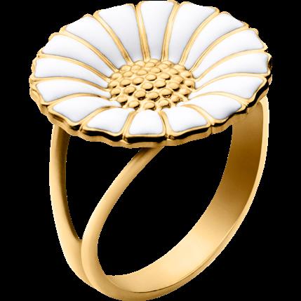 Photo of Daisy Marguerit ring i forgyldt sølv |  Georg Jensen