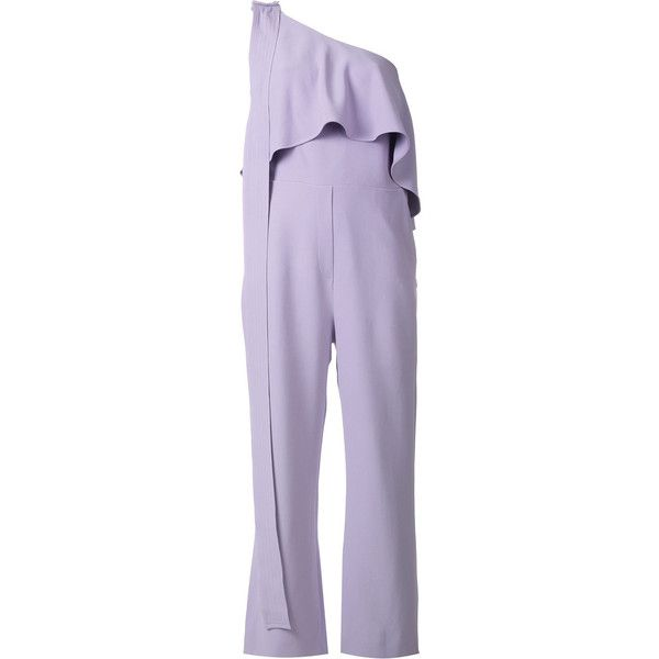 Purple One Shoulder Jumpsuits