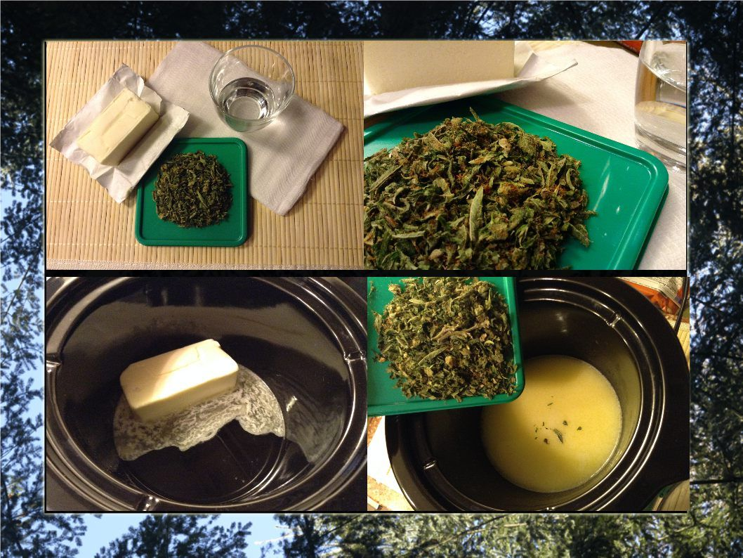 Making Cannabutter Is Easy 8 Tbs Unsalted Butter 1 4lb Stick 1  5g Chopped Cannabis 1 4 Cup Water Adjust Amounts As Necessary For How Much