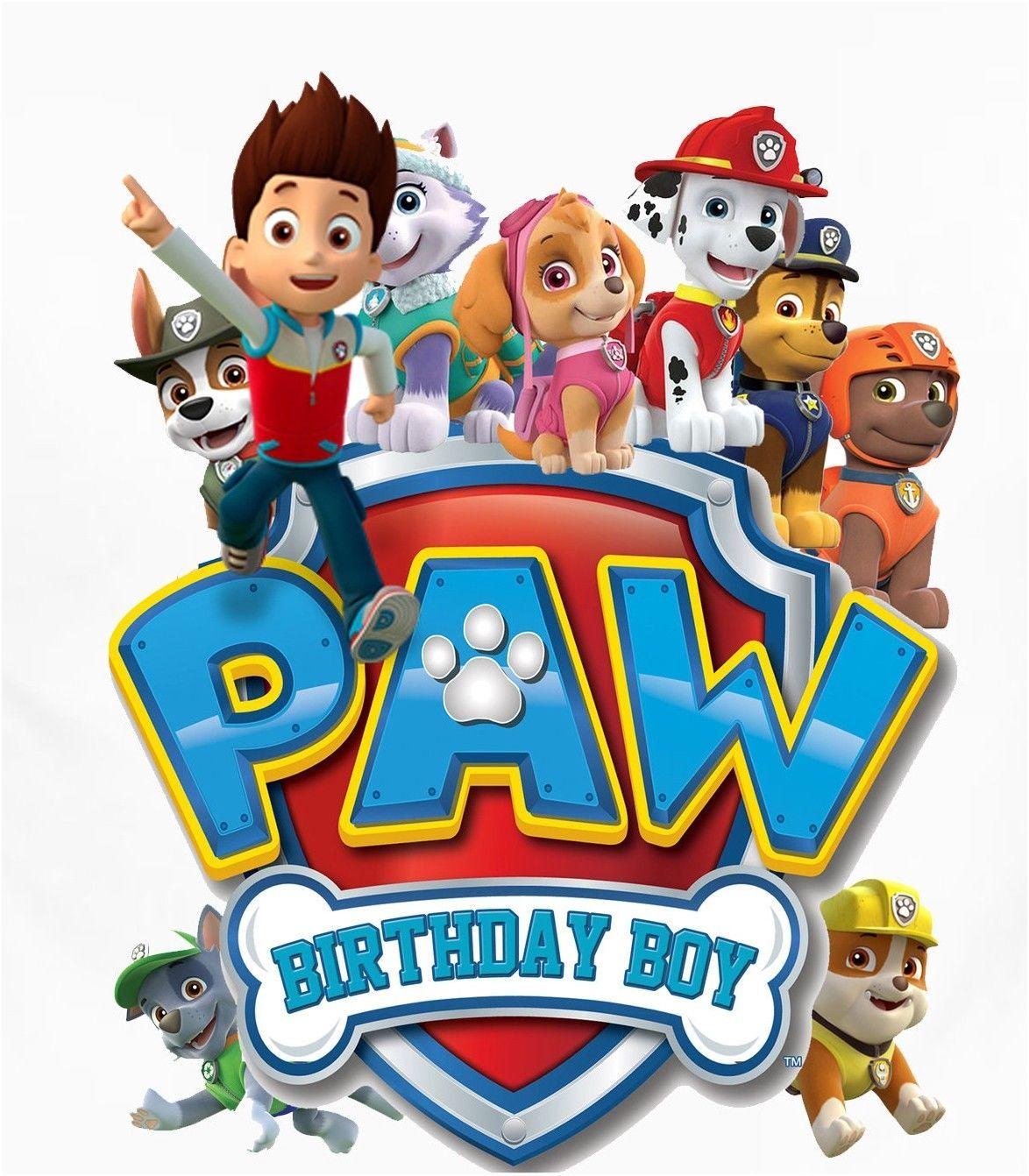 2 99 Paw Patrol Birthday Boy Shirt Iron On Transfer Ebay Home Garden