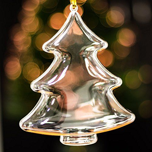 x20 Clear Large Christmas Tree Shaped Xmas Decorations Empty Fillable Bauble *** Click image to review more details.